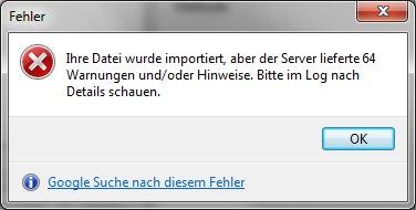 HeidiSQL-Fehlermeldung