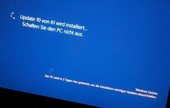 In 2 Tagen wird der Rechner neu gestartet.
