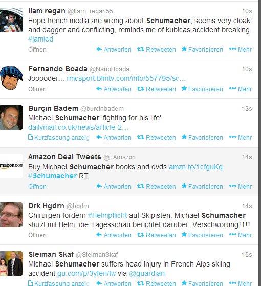 Während die Welt sich um Michael Schumacher Sorgen macht, machen andere mal Werbung mit dem schwerverletzten Ex-Rennfahrer.