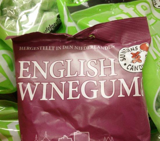 """""""English Winegum"""" - hergestellt in den Niederlanden - das darf man wohl auch Nepp nennen."""