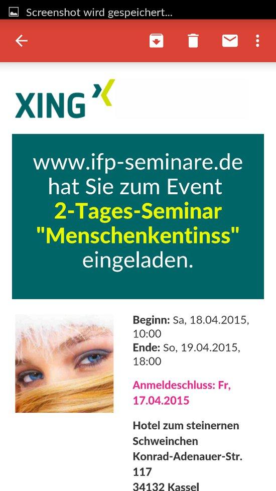 """2-Tages-Seminar """"Menschenkentinss"""" - ein mehr als prominent präsentierter Fehler."""